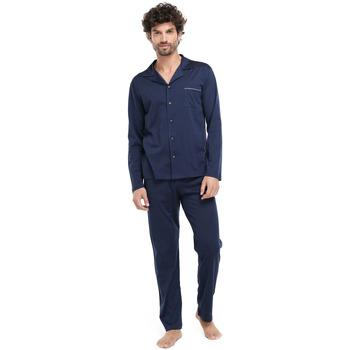 textil Hombre Pijama Zd - Zero Defects Pijama hilo de Escocia marino Azul Marino