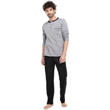 textil Hombre Pijama Zd - Zero Defects Pijama hilo de Escocia negro Negro