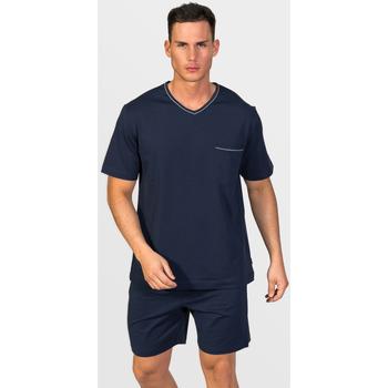 textil Hombre Pijama Zd - Zero Defects Pijama corto algodón Giza Azul Marino