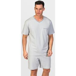 textil Hombre Pijama Zd - Zero Defects Pijama corto algodón Giza Gris