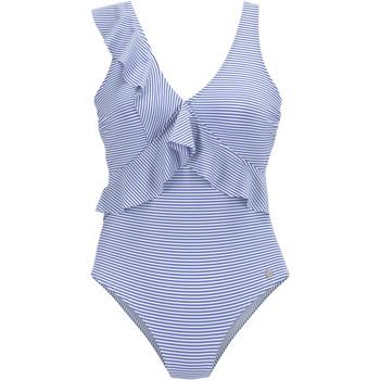 textil Mujer Bañador Lascana azul marino traje de baño 1 pieza con volantes Azul Marine