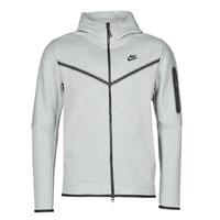 textil Hombre Chaquetas de deporte Nike M NSW TCH FLC HOODIE FZ WR Gris / Negro