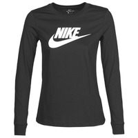 textil Mujer Camisetas manga larga Nike W NSW TEE ESSNTL LS ICON FTR Negro