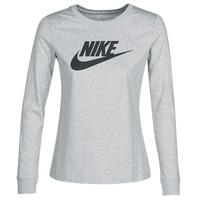 textil Mujer Camisetas manga larga Nike W NSW TEE ESSNTL LS ICON FTR Gris