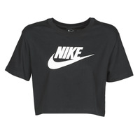 textil Mujer Camisetas manga corta Nike W NSW TEE ESSNTL CRP ICN FTR Negro