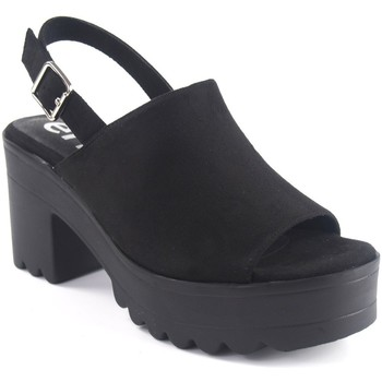 Zapatos Mujer Sandalias Emmshu Sandalia señora  alesae negro Negro