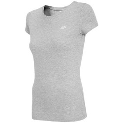 textil Mujer Camisetas manga corta 4F TSD001 Grises