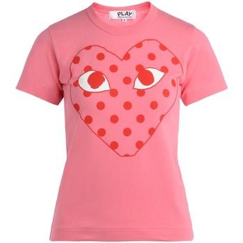 textil Mujer Camisetas manga corta Comme Des Garcons Camiseta de mujer  rosa con corazón Rosa