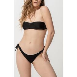 textil Mujer Bañador por piezas Luna Homonoia  Medias de baño con nudos brasileños Pearl Black
