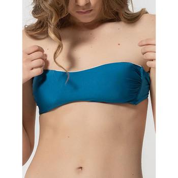 textil Mujer Bañador por piezas Luna Homonoia  Conchas removibles Bandeau Top de traje baño Azul