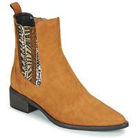 Zapatos Mujer Botas de caña baja Regard BASTIA V3 VEL HAVANE Marrón