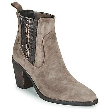 Zapatos Mujer Botines Regard ELCHE V4 VELOURS TALPA Beige