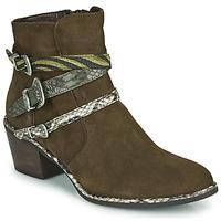Zapatos Mujer Botines Regard NAPOLI V3 VELOURS MILITARE Kaki