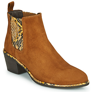 Zapatos Mujer Botines Regard NOISY V2 VELOURS SAFRAN Marrón