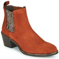 Zapatos Mujer Botines Regard NOISY V3 VELOURS TUILE Rojo