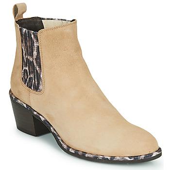 Zapatos Mujer Botines Regard NOISY V7 VELOURS SAFRAN Beige