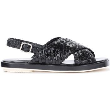 Zapatos Mujer Sandalias Pon´s Quintana Sandalia Malena de piel entrelezada negra Negro