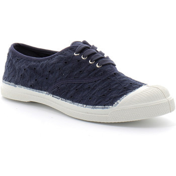 Zapatos Mujer Tenis Bensimon Lacet Broderie Bleu