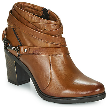 Zapatos Mujer Low boots Dream in Green NEGUS Camel