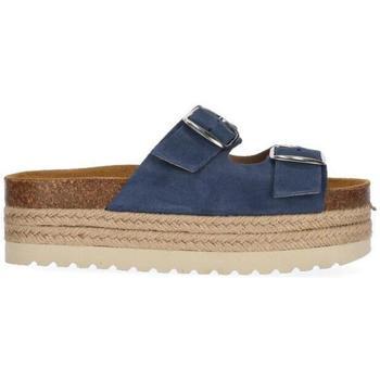 Zapatos Niña Zuecos (Mules) Chika10 Kids Leather ASTRID 01 Marino/Navy