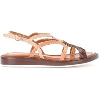 Zapatos Mujer Sandalias Pon´s Quintana Sandalia Anais de piel color cuero entrelazada Marrón