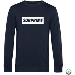 textil Hombre sudaderas Subprime Sweater Block Navy Blauw