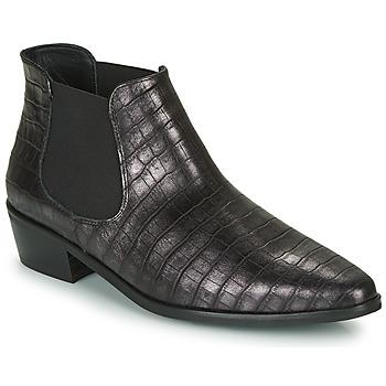 Zapatos Mujer Botas de caña baja Fericelli NANARUM Negro / Plata