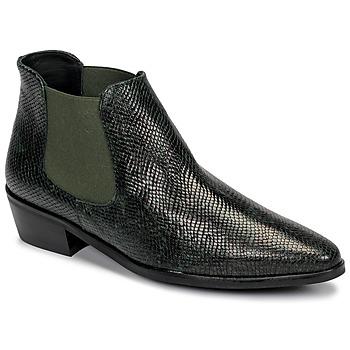 Zapatos Mujer Botas de caña baja Fericelli NANARUM Negro / Verde