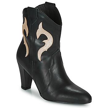Zapatos Mujer Botines Fericelli NARLOTTE Negro / Oro