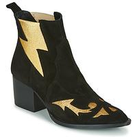 Zapatos Mujer Botines Fericelli NAUSSON Negro / Oro