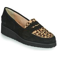 Zapatos Mujer Mocasín Fericelli NECLAIR Negro / Animal