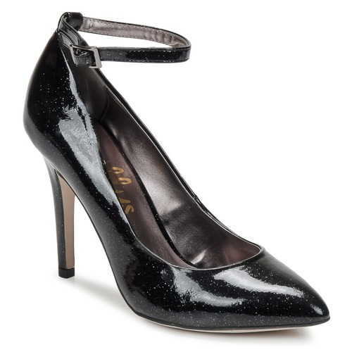 Tacón London Star NegroGlitter Mujer De Zapatos Shellys IWH2ED9