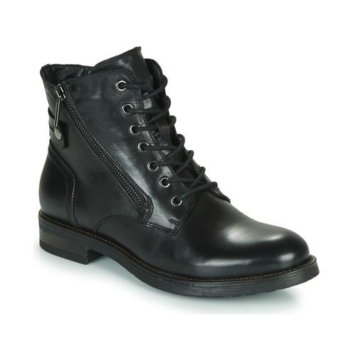 Zapatos Mujer Botas de caña baja Casual Attitude NUNAISE Negro