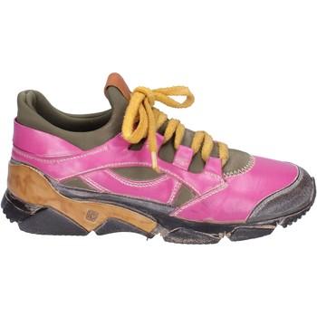Zapatos Mujer Zapatillas bajas Moma sneakers cuero rosa