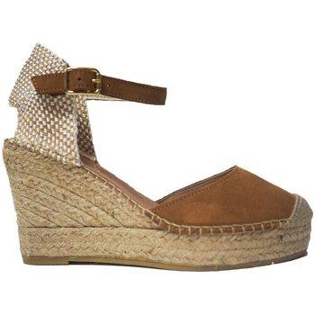 Zapatos Mujer Alpargatas Vidorreta Cuña  11600 Cuero Marrón