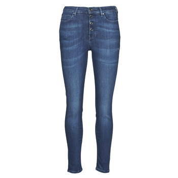 textil Mujer Vaqueros slim Guess 1981 EXPOSED BUTTON POWER Azul