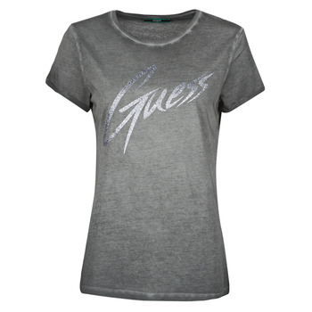 textil Mujer Camisetas manga corta Guess SS CN IVONNE TEE Negro