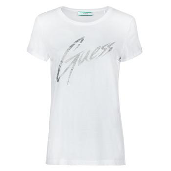 textil Mujer Camisetas manga corta Guess SS CN IVONNE TEE Blanco