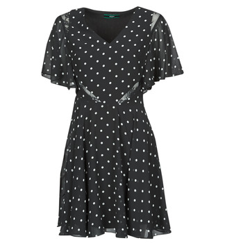 textil Mujer Vestidos cortos Guess ELLA DRESS Negro / Blanco