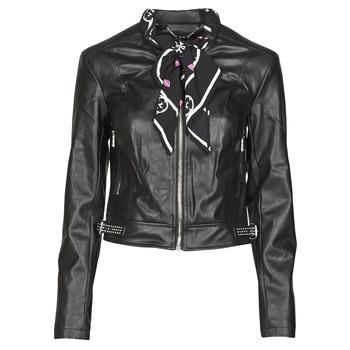 textil Mujer Chaquetas de cuero / Polipiel Guess NEW JONE JACKET Negro