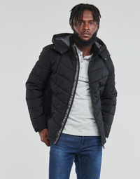 textil Hombre Plumas Guess STRETCH PUFFA HOODED Negro
