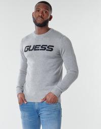 textil Hombre Jerséis Guess LOGO SWEATER Gris