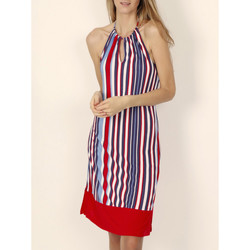 textil Mujer vestidos cortos Admas Vestido de verano sin mangas Elegante Rayas rojas Arena