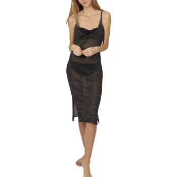 textil Mujer vestidos cortos Admas Vestido de playa Noche verano negro Pearl Black