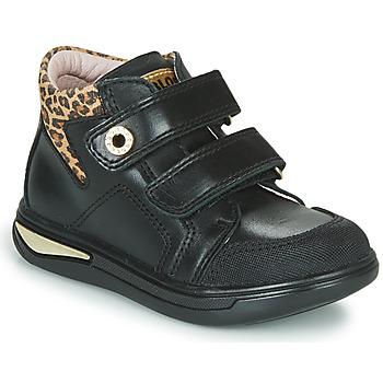 Zapatos Niña Zapatillas altas Pablosky 490611 Negro / Leopardo