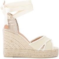 Zapatos Mujer Alpargatas Castaner Sandalia con cuña Bluma de canvas color marfil Blanco