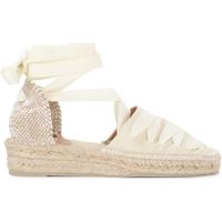 Zapatos Mujer Alpargatas Castaner Sandalia con cuña Gina de canvas color marfil Blanco