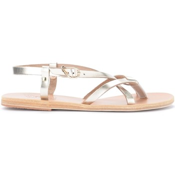 Zapatos Mujer Sandalias Ancient Greek Sandals Sandalia Semele de piel metalizado platino Dorado