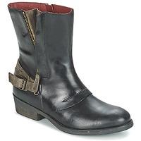 Zapatos Mujer Botas de caña baja Kickers AMERIKO Negro / Gris