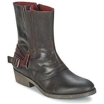 Zapatos Mujer Botas de caña baja Kickers AMERIKO Marrón
